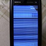 Pantalla estallada de un Nokia 5800