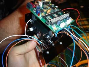 Base, placa base, y sensores de suelo