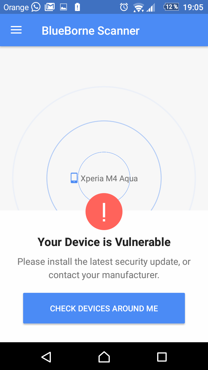 Blueborne - Armis - Dispositivo Android vulnerable